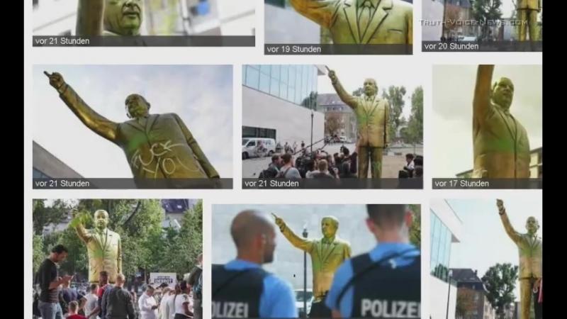 Aufruf zu einem friedlichem Zusammenleben! Auch in Chemnitz! - Erdogan-Statue Wiesbaden - Eindrücke von Ali Iscitürk