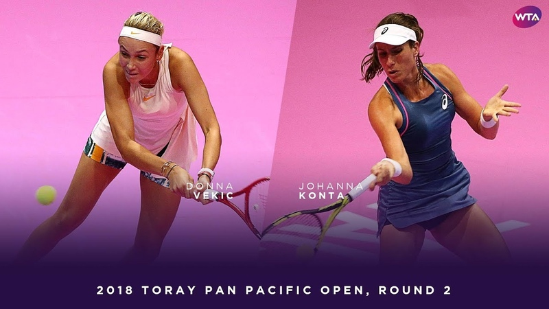 Donna Vekic vs. Johanna Konta | 2018 Toray Pan Pacific Open Round Two | WTA Highlights