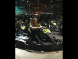 Mariah, Bryan and rocky go carting!!!