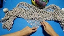 Вязание крючком. Туника японским ажуром и косынка с бразильской вышивкой