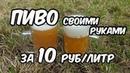 Пиво своими руками за 10 рублей 1 литр Рецепт Дегустация