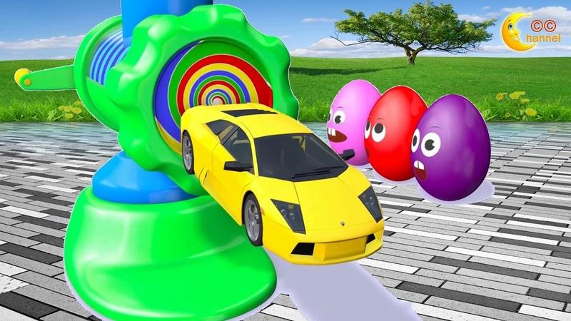 Trẻ Học Màu Sắc Và Phương Tiện Giao Thông Cùng Máy Xay Ma Thuật Siêu Trứng Siêu Xe