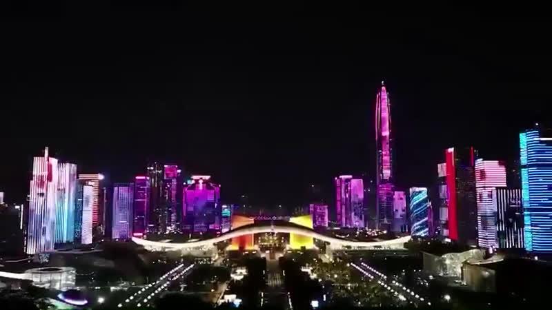 Свет в Шеньчжене Китая