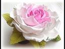 МК Простой способ изготовления розы из фоамирана с плоским основанием