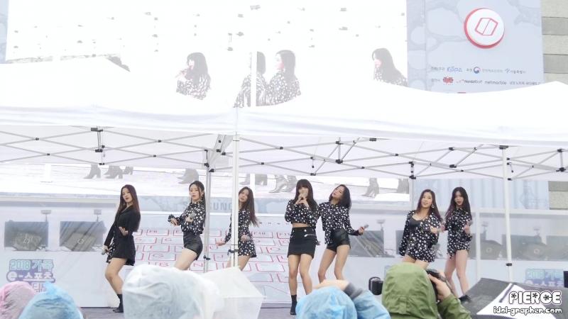 [4K] [180512] CLC 씨엘씨 - Black Dress 블랙드레스 (가족 e스포츠 페스티벌) 전체 직캠⁄Fancam by PIERCE