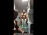 Two Man Prison Cell Workout Curls, Upright Rows, &amp Push ups