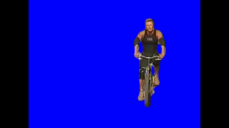 Gachimuchi Daniel Freeman on a bicycle on a blue screen Денниэл Фриман на велосипеде на синем экране