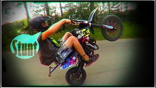 Покатушки и стант на питбайке | stunt pit bike 125 | dirt bike wheelie