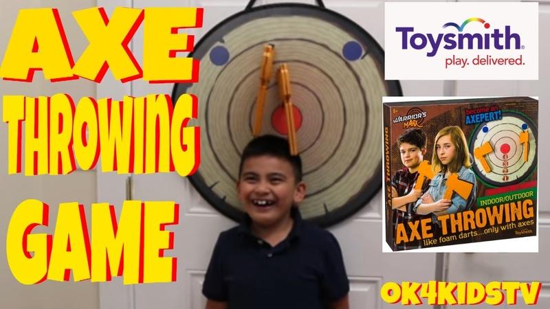 Axe Throwing Game Warriors Mark - Toysmith Toys ok4kidstv video 210