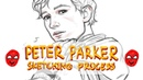 Peter Parker (sketching process)
