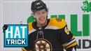 David Pastrnak collects third NHL hat trick