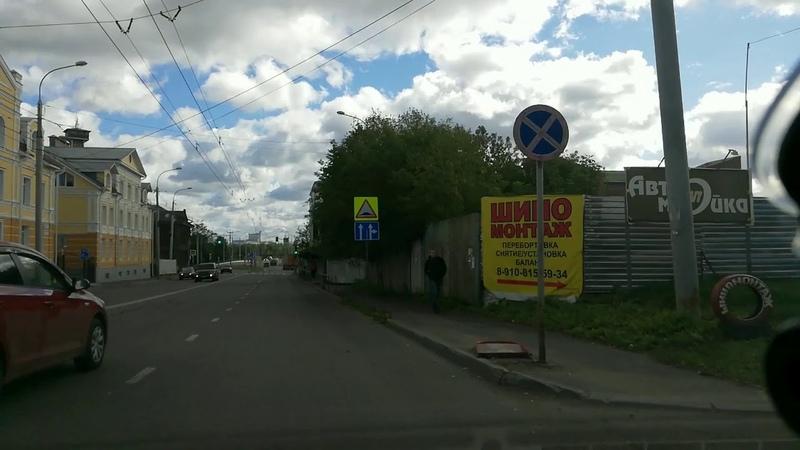 Поворот направо с ул.Герцена на ул.Советская