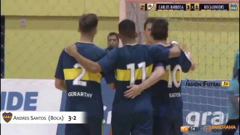 Pasión Futsal TV Carlos Barbosa 5-Boca 3 (Copa Libertadores-Gr. A-Fecha 1) FUTSAL FIFA