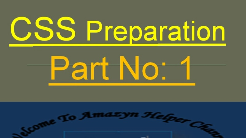 CSS   PMS   GENERAL KNOWLEDGE   mcqs portion   Video1 by amazyn helper channel