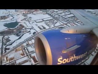 EMERGENCY Boeing 737-700 Southwest Airlines Engine Fire !! (Engine 2)Помпаж