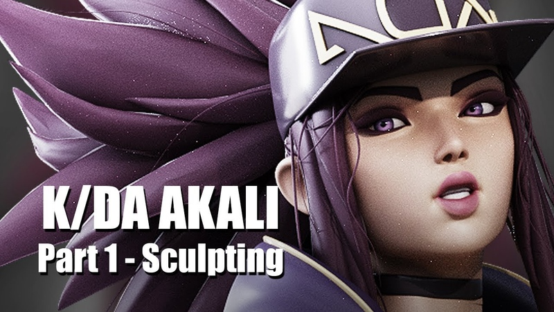 K/DA Akali - Part 1 - Blender 3D Timelapse