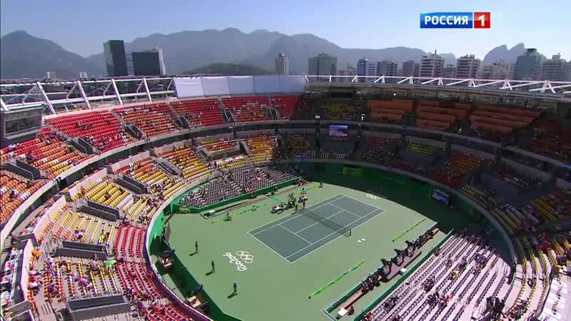 15.08.2016. 01:10 - Теннис. Женщины. Парный разряд. Финал. Россия - Швейцария