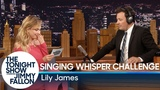 Singing Whisper Challenge with Lily James