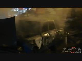 Сгорело авто на ул.Борисевича