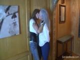 Lesbian Kissing in Bondage
