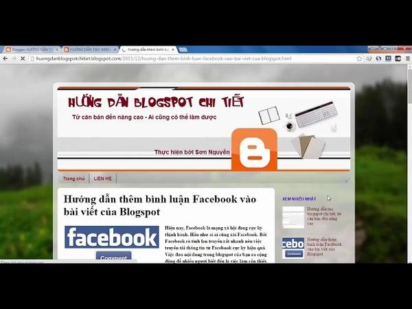 Hướng dẫn thêm comment Facebook vào bài viết Blogspot