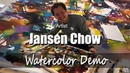 Watercolor Demonstration Artist Jansen Chow - IWS Malaysia