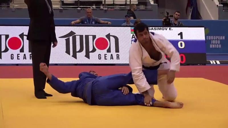 Gasimov E AZE Hutsol D UKR 1:0 -100kg Minsk European Open 2018 Semifinal