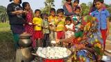 Winter Stream Cake - Sweet Bengali Vapa Pitha - Traditional Winter Cake Making For Village kids