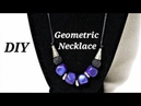 How To Make Polygon Shaped Beads With Polymer Clay Polymer Clay Geometric Necklace