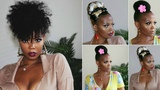 CAN'T BRAID! 5 QUICK &amp EASY UPDO NATURAL HAIRSTYLES ON TYPE 4C HAIR HERGIVENHAIR TASTEPINK