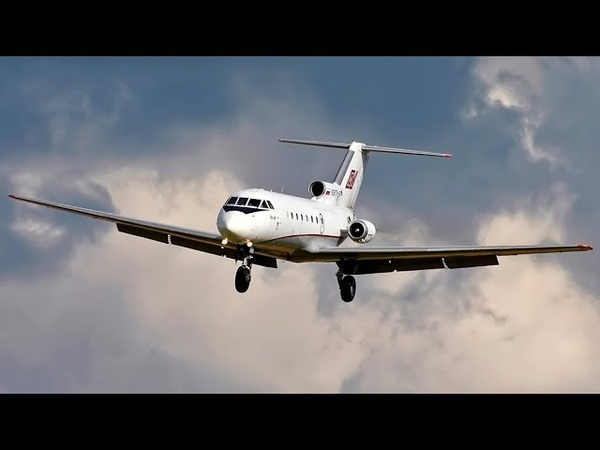 Як-40 Реверс до касания / Аэропорт Внуково 2018 / Reverse before landing