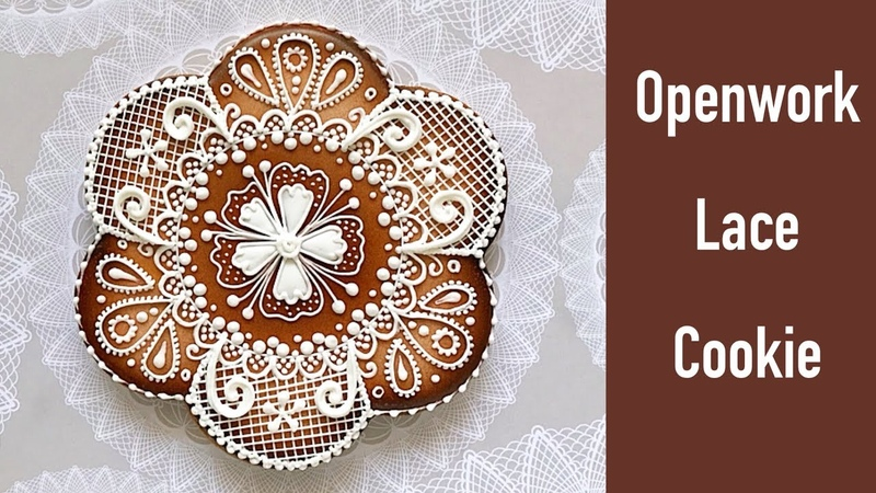 (vk.com/lakomkavk) Openwork Lace Cookie. Ажурное печенье.