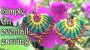 Macrame tutorial: The simple En eventail earring