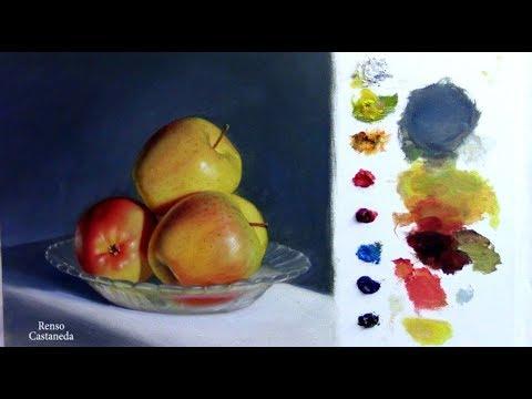 Como pintar Manzanas con óleo