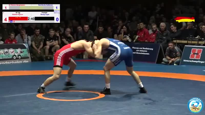 RINGEN – FINALE _ Burghausen vs. Heilbronn _ 61kg FR Vladimir Egorov vs. Recep Topal
