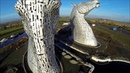 The Kelpies, Scotland. Sculpture by Andy Scott @ScotlandAbove