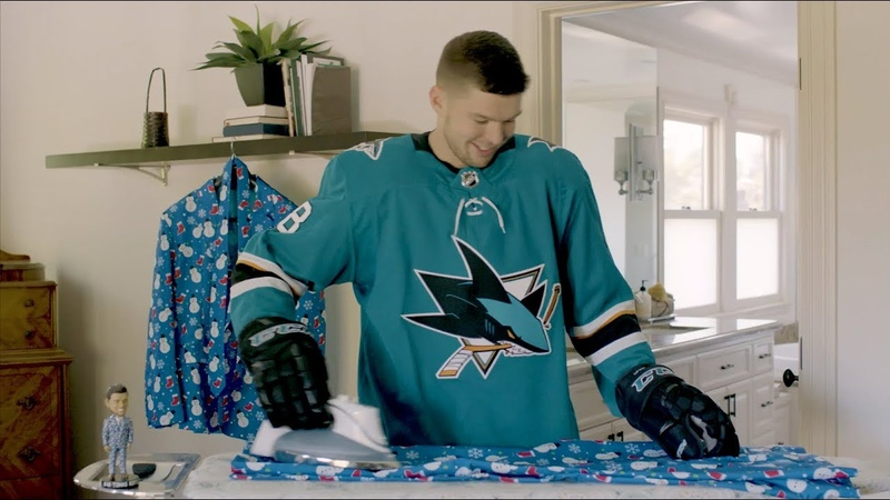 Tomas Hertl Holiday Suit Bobblehead Commercial