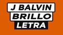 J Balvin - Brillo (Letra) ft Rosalía 🎶 🎷