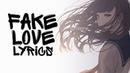 Nightcore - FAKE LOVE (English cover / Female / Acoustic) BTS || Lyrics