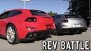 Supercar Rev Battle: Ferrari Twin Turbo V8 vs Naturally Aspirated V12!