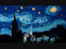 Garip Ay - Ebru Art: Van Gogh on Dark Water / Гарип Ай: «Звездная ночь» Ван Гога в технике Эбру
