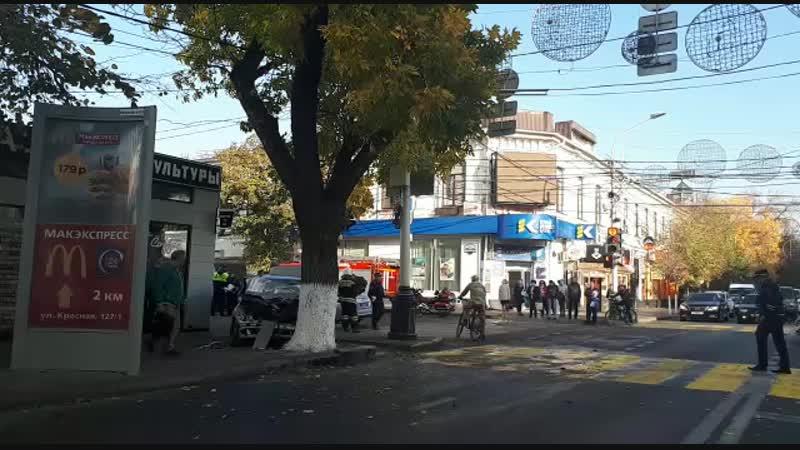 Авария пересечении улиц Красной и Карасунской