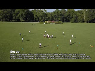 First touch soccer team training warm up drill