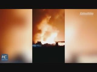 Взрыв около химического завода в Хэбэй