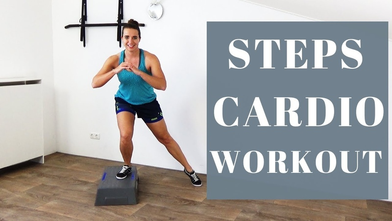 10 Minute Cardio Steps Workout for Weight Loss – Challenging Step Exercises – At Home