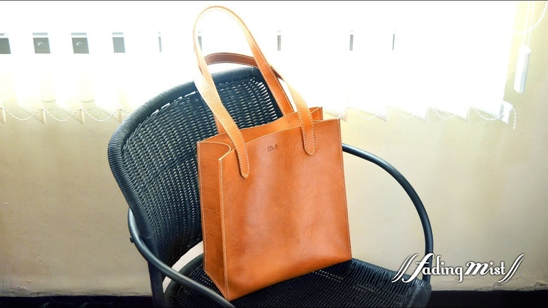 Fading Mist 手作皮革肩袋 Handmade Leather Tote Bag