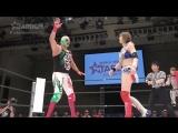 El Hijo del Dr. Wagner Jr. &amp Oedo Tai (Kagetsu &amp Natsu Sumire) vs. Mayu Iwatani, Rey Wagner &amp Saki Kashima