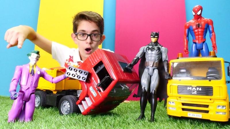 Araba oyunları. Joker Batmanin kamyon motorunu alıyor