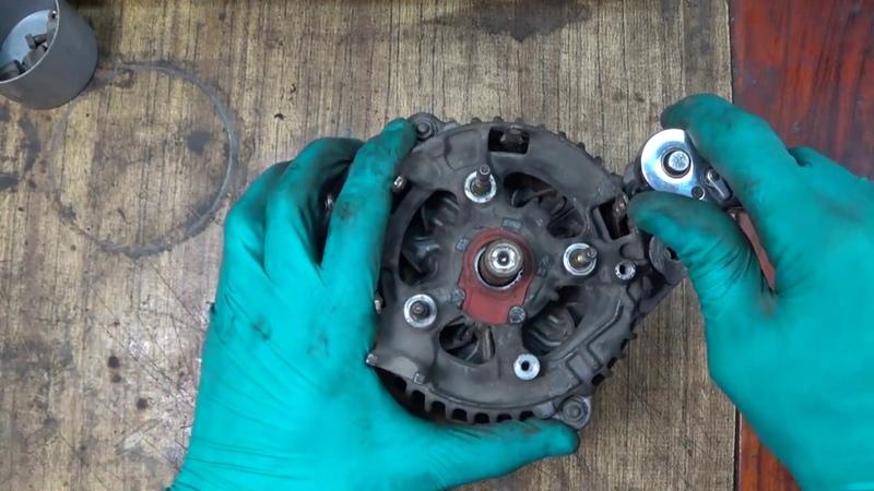 Ремонт генератора 3s-fe. Замена подшипников и щеток.