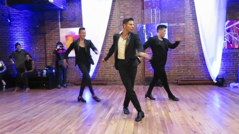 Los 3 Amigos: David, Victor Rodrigo (Men Styling) at the VA Gala on November 27th 2015
